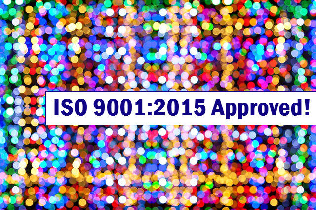 ISO 9001:2015 Approved